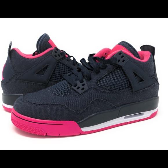 4e0de724b8f Nike Shoes | Air Jordan Retro 4 Gs 487724408 Denim | Poshmark